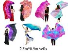 "2.5m*0.9m(98""x35"") 5mm paj silk, belly dance silk veil for children dance&play."