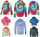 MENS TIE DYE, UNLINED, LIGHTWEIGHT BEACH, T-SHIRT, HOODIE, PULLOVER S M L XL 2XL