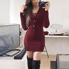 ISASSY Womens Ladies Lace Sweater Bodycon Jumper Tunic Short Mini Dress <br/> *US Fast Shipping*ISASSY High Quality*Good Condition*