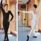Man Men's Ballet Dance Unitard Jumpsuit Bodysuit Gyms Leotard Long Sleeves 6 SZs