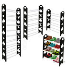 4 Tier Shoe Rack Storage Stand Organiser Cabinet Shelf 12 Pairs Shoes Stackable