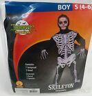 NEW Skeleton Boys Costume Size S 4/6 OR L 10/12 Halloween Sensations Jumpsuit