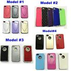 For Iphone 4 4s Shockproof Hard Pc Back Skin Protective Case Cover