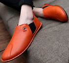 Mens Driving Moccasins Flat Slip On Shoes Casual Comfort Faux Leather Loafers