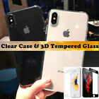 TPU Case Cover + 3D Full Curve Tempered Glass For Apple iPhone 6 Plus & 7 Plus
