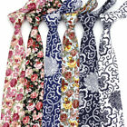 9 Color Men's Flower Floral Neck Tie 6 CM Print Skinny Tie Wedding Party Necktie