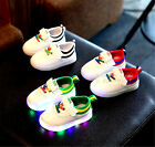 Cute Luminous Kids boys girls LED light up Sneakers Trainer Party Shoes Colorful