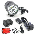 Rechargeable LED Bicycle Bike Cycling Front Rear Tail Light 6 Modes Lamp Set