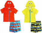 Wippette Little Boys' Toddler Pirat Octopus Coverup Swim Trunk Set