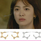 New Descendants of the Sun K-drama Kang Mo-yeon Crystal C Alloy Earrings 2Colors