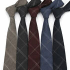 6 CM Mens Cotton Neck Ties Slim Striped Tie Wedding Party Casual Necktie Cravat
