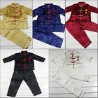 "Free Shipping Lovely 2PC Chinese Boy's Brocade Character ""kung fu"" Suit Clothing"