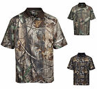 MEN'S WICKING, CAMO, CAMOUFLAGE POLO, SHORT SLEEVE, VENTS, S-4XL & TALL LT-4XLT