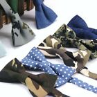 7 Style Adjustable Mens Cotton Bow Tie Floral Dots Camouflage Tuxedo Bowties
