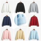 New Women Lady Hoodies Casual Sweatshirt Pullover Candy Coat Jacket Outwear Tops