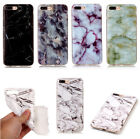 Xmas Granite Marble Pattern Thin TPU Silicone Case Cover For iPhone 6 7 8 Plus X