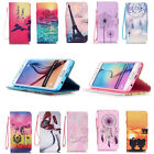 Synthetic Leather Card Holder Wallet Stand Case Cover for Samsung S6/iPhone5 6