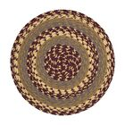 Braided Cotton Blend Round Chair Pad with 2 Tie Ribbons 45-341
