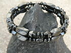 Men's Woman's Magnetic Hematite DOUBLE Row Anklet Bracelet Therapy Clasp
