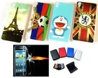 Mobile Phone Back Cover for HTC One E9s + Tempered Glass + Security Wallet