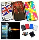Mobile Phone Silicone Back Cover Case for Lenovo S650 + Tempered Glass + Wallet