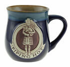 """Stoneware """"Piping Hot"""" Mug with A Scottish Piper - Available in 2 colours"""