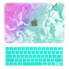 Cool Painted Rubberized Marble Folk Hard Case +keyboard Cover For Laptop Macbook
