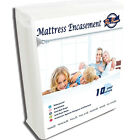 Mattress Encasement Bed Bug Water Proof Zip Guard 6-Sided Zippered Cover image