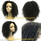 """8""""-10"""" Afro Curly 100% Brazilian Human Hair Lace Wig Full Lace/Lace Front Wigs"""