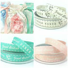 PER METRE Berisfords Great British Baker Ribbon, Pink, Blue, Aqua 15mm wide