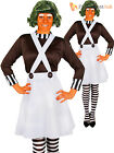 Ladies Oompa Loompa Costume Adults Charlie and the Chocolate Factory Fancy Dress