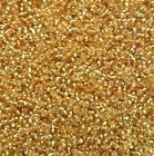 20g - 100g Silver lined Gold Seed beads Size 12/0. 22B