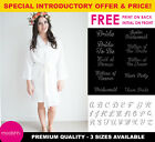 White Personalised Plain Bridal Robe Bride Bridesmaid Wedding Dressing Gown
