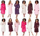 Ladies Fleece Dressing Gown Plus Large Size Flannel Hooded Shawl Pink Maroon Big