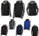 MEN'S PULLOVER, WICKING, PERFORMANCE, HOODIE, PRINT/SOLID COLORBLOCKING, XS-4XL