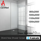 Regtangle Frameless 10mm thick Safety Glass Shower Screen 2M Glass