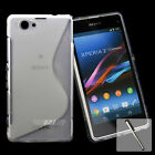 Durable S Line GEL Soft Case Cover For Sony Xperia Z1 Compact D5503 + Stylus AU