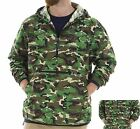 MENS UNLINED, MILITARY CAMO, HOODED WINDBREAKER, SELF PACKABLE, PULLOVER, XS-3XL