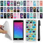 For LG Leon C40 Power L22C Destiny L21G Tribute 2 TPU SILICONE Case Cover + Pen