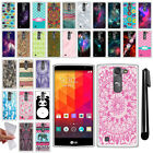For LG Volt 2 LS751 Magna H502G G4C Mini H525N TPU SILICONE Soft Case Cover +Pen