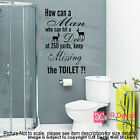 Funny Toilet sign Removable vinyl wall Stickers Funny quotes Wall Decals Decor