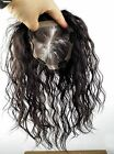 Mono & PU 100% Human Hair Topper Hairpiece Weave Toupee Wigs Natural Color