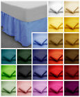 Poly Cotton FRILLED Base Valance Bed Sheets in Plain Dyed Single, Double, King
