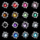10pc Diamond Gem Napkin Ring Serviette Holder Wedding Banquet Dinner Table Decor