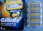 GILLETTE FUSION BLADES 4 PACK OF POWER PROGLIDE PROSHIELD OR CHILL UK STOCK