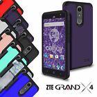 For ZTE Grand X4 Liquid Armor Hybrid Slim Fit Shockproof Thin Hard Case Cover