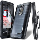 COVRWARE® [IRON] Brush Metal Texture Holster Case For ZTE Grand X4 / Blade Spark