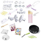 Cake Decorating Tools - Sugarcraft Icing Fondant - Baking Plunger Cutters Moulds