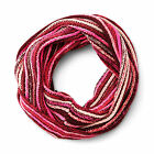 Women's Knit Infinity Scarf - PINK BLUE OR GREY- Cold Weather Scarf