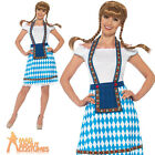 Bavarian Beer Maid Oktoberfest Costume German Beer Fancy Dress Womens Outfit